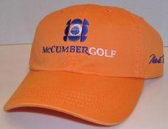 bc68028da99 Mark McCumber Golf Academy Orange Signature Baseball Cap Strapback Hat PGA  Tour  AmericanDryGoods  BaseballCap