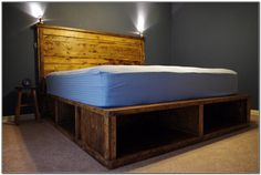 Image of: Platform Bed with Storage Plans for A 10×12 Building