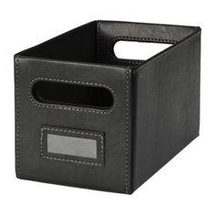 KNÖS Škatuľa IKEA Kôš sa vynikajúco hodí na uskladnenie CD, hier, adaptérov alebo iných doplnkov.