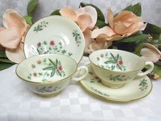 Lenox, China Dinnerware Country Garden pattern #W302 Set 2 Cup(s) & Saucer(s) #Lenox #Lenox