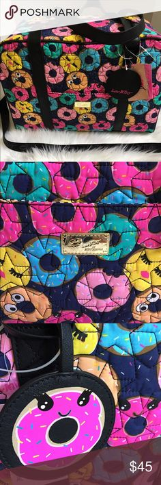 """Betsey Johnson Travel Tote Really cute Betsey Johnson Travel Tote has a quilted design with colorful donuts all over! W, 19"""", H, 13"""", D, 9"""". Betsey Johnson Bags Travel Bags"""