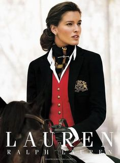 Equestrian chic • La Cavalière masquée. The horse in this ad is Ravenwood Royalty, my horse's sire. :)