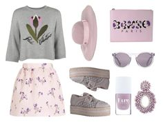 """Unbenannt #60"" by mondscheingeheimnisse ❤ liked on Polyvore featuring RED Valentino, Kenzo, HOOK LDN, Maison Michel, Zimmermann and Bibi Marini"