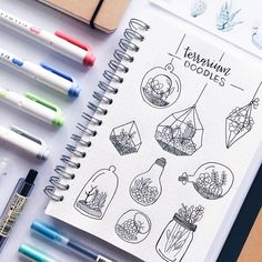 "5,284 kedvelés, 79 hozzászólás – stationery│notes│bujo ✨ (@study.duoo) Instagram-hozzászólása: ""i've been obsessed with terrariums lately // let me know if you want a tutorial on how to make…"""