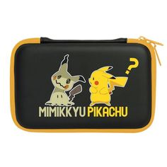 Photo1: New Nintendo 3DS LL XL Hard Pouch Case Pikachu and Mimikyu case