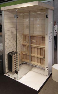 Tässäkö tiiviisti asuvan himosaunojan pelastus? Saunastoren (http://www.saunastore.fi/index.php) kokoontaitettavan Aura-saunan kerrotaan mahtuvan yhdessä 80cm leveän suihkun kanssa leveydeltään 170cm kylpyhuoneeseen.