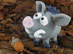 Amigurumi Crochet Pattern - Wilbur the Wild Boar Wild zwijn everzwijn