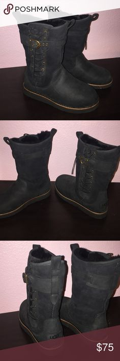 Ugg boots Black suede ugg boots. Authentic never worn size 5 UGG Shoes Ankle Boots & Booties