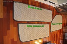 Great idea for winter rving DIY Window insulation- made from ironing board cover material, easily attached and removed from windows using neo-magnets.