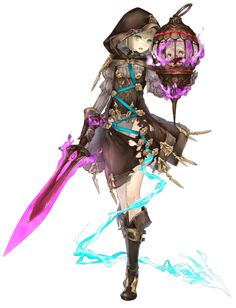 View an image titled 'Gretel, Breaker Job Art' in our SINoALICE art gallery featuring official character designs, concept art, and promo pictures. Got Characters, Fantasy Characters, Female Character Design, Character Drawing, Paladin, Final Fantasy, Dnd Elves, Demon Drawings, Anime Art Fantasy