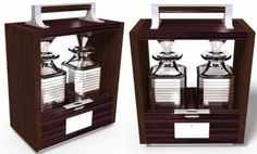 David Linley's Tantalus Decanter Case Chicago House, Decanter, Gifts For Friends, Silver Plate, Artisan, David, Shelves, Whiskey, Furniture