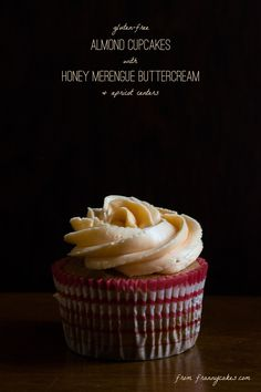 gluten-free almond cakes with a delicate honey merengue buttercream   a recipe from frannycakes