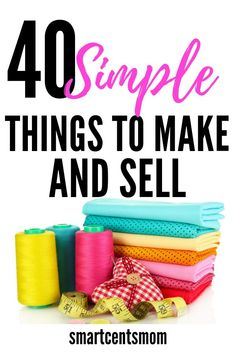 40 Simple things to make and sell from home. Use these creative ideas to sell on Etsy. DIY handmade crafts are a great way to make money at home! fabric crafts 41 Easy Fabric Craft Ideas to Sell Sell Diy, Diy Crafts To Sell, Diy Crafts For Kids, Handmade Crafts, Crafts To Make And Sell Unique, Kids Diy, Creative Crafts, Sewing Projects For Kids, Easy Craft Projects