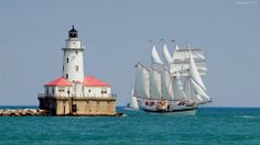 Chicago Lighthouse | You are viewing Chicago, lighthouse widescreen wallpaper