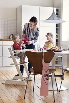 Modern High Chairs :: Stokke Tripp Trapp Chair for baby and kids ––a popular Scandinavian designed high chair for over 40 years!
