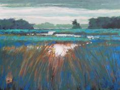 "Original art for sale at UGallery.com | Lowland Creek by Kip Decker | $2,575 | acrylic painting | 30"" h x 40"" w"