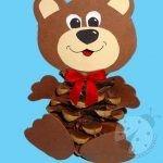 Lavoretti autunno per bambini – Orsetto Bear Crafts Preschool, Bug Crafts, Nature Crafts, Felt Crafts, Easy Crafts, Diy And Crafts, Crafts For Kids, Arts And Crafts, School Art Projects