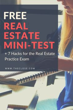 Assess your real estate knowledge and skills. Use our free mini-test plus 7 exam hacks to improve your score. Real Estate Test, Real Estate Auction, Real Estate Career, Real Estate License, Real Estate Investing, Human Resources Career, Elementary School Counseling, Elementary Schools, Becoming A Realtor