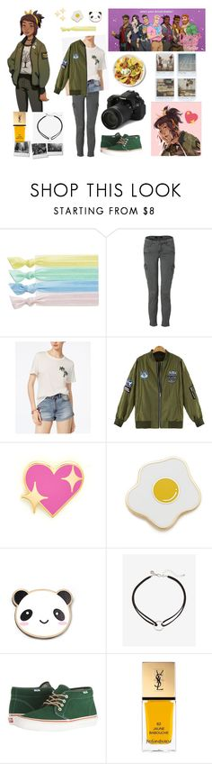"""""""Dream Daddy - Amanda (panda)"""" by thecaptain101 ❤ liked on Polyvore featuring Ribband, J Brand, Thakoon Carbon Copy, PINTRILL, Georgia Perry, Asking For Trouble, Express, Vans, Yves Saint Laurent and Rachael Ray"""