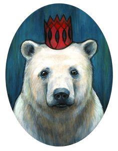 "Kelly Vivanco — ""Royal Polar Bear"" Original Painting"