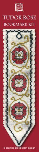 Textile Heritage Tudor Rose Counted Cross Stitch Bookmark Kit