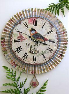 French Garden Paper Medallion Wall Clock