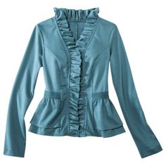 Mossimo® Women's Ruffled Ponte Jackets - Assorted Colors.Opens in a new window