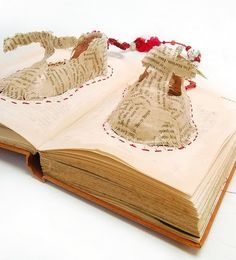 The cutest little shoes...made out of a book!