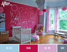 Real Rooms: A Toddler's room makeover-  That Wall is just amazing!!