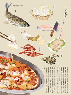 SIchuan food has a long history.As one of our four regional cuisions,sichuan cuisine occupies an important position in the history. Food Poster Design, Menu Design, Food Design, Food Sketch, Watercolor Food, Flat Design Illustration, Food Painting, Food Drawing, Food Illustrations