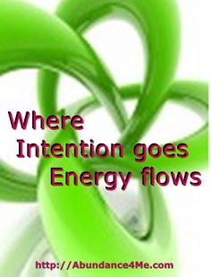 Set your intention purposefully and see what happens!