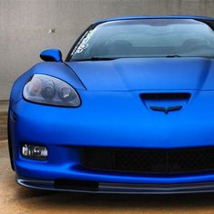 Gorgeous Matte Blue Corvette