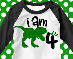 Reflective Party Crafts For Boys Dinasour Birthday, Dinosaur Birthday Cakes, Dinosaur Party, 4th Birthday Party For Boys, Birthday Boy Shirts, Birthday Party Themes, Birthday Ideas, Birthday Cards, Happy Birthday