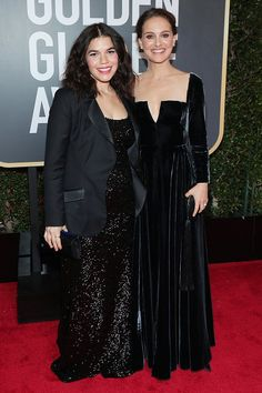 Best Dressed at the Golden Globes 2018: All the Stars in Black - America Ferrera and Natalie Portman