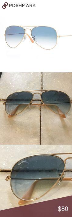 ce66a131e8e Ray-Ban Light Blue Gradient Aviators Ray-Ban Light Blue Aviator Sunglasses.  Small