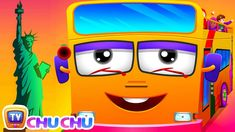 Wheels On The Bus   New York City   Popular Nursery Rhyme by ChuChu TV - YouTube Pixar Cars Birthday, 5th Birthday, Solids For Baby, English Lessons For Kids, Kids Frocks Design, Acrylic Painting Lessons, Wheels On The Bus, Moral Stories, Kids Tv