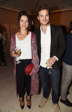The ordinary life: Jamie is married to musician Amelia Warner, above left, and insists his home life is suitably more low key