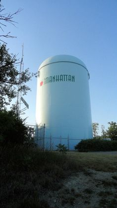 Manhattan Hill water tower...I have a friend who fell off of this.  (He's okay.)