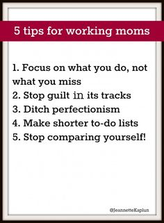 Tips to stop mommy guilt by Jeannette Kaplun on Babble.com #typeaparent