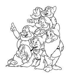 Cuentos infantiles: Blancanieves y los siete enanitos. Cuento para colorear. Secuencia temporal.