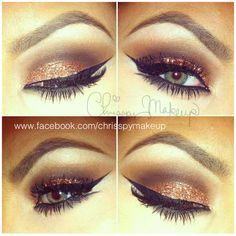 brown sparkly eyes