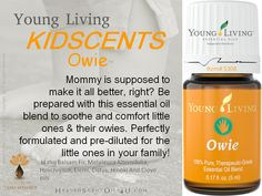 Essential Oil for Owies. Kidscents collection