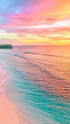 Pastel sunset in Bali