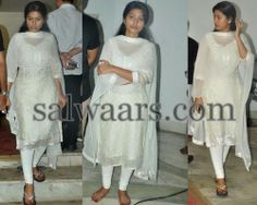 Indian Dresses: Sneha White Casual Salwar