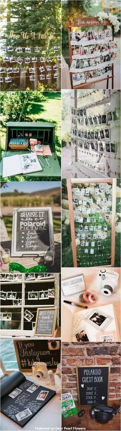 unique wedding ideas - Polaroid wedding reception decor ideas / http://www.deerpearlflowers.com/creative-polaroid-wedding-ideas/2/