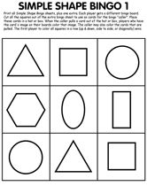 So Many Great Printables The Simple Shape Bingo Would Be Fantastic Of Others Good Sub Lessons Too