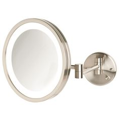 Wall mounted lighted magnifying mirror 10x the wall mount is the jerdon 9 5 lighted wall mount mirror aloadofball Images