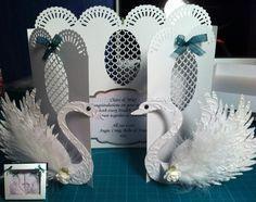 Luxury Swan Wedding Card  Available at www.gingerpatchcrafts.co.uk