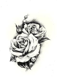 Rocooart New Sketch Rose Waterproof Fake Tattoo Taty For Women Men Temporary Tattoo Sticker Back Arms Flash Tatoo Henna Tatuaje. Tatoo Rose, Rose Drawing Tattoo, Rose Flower Tattoos, 1 Tattoo, Tattoo Drawings, Arm Tattoos With Roses, Rose Tattoo Foot, Rose Drawings, Wrist Tattoo