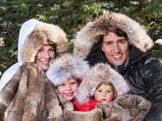 "The company that made the fur-trimmed parkas worn by Liberal MP Justin Trudeau's family in this season's Christmas card has defended the use of coyote fur as ""sustainable."" Description from montrealgazette.com. I searched for this on bing.com/images"
